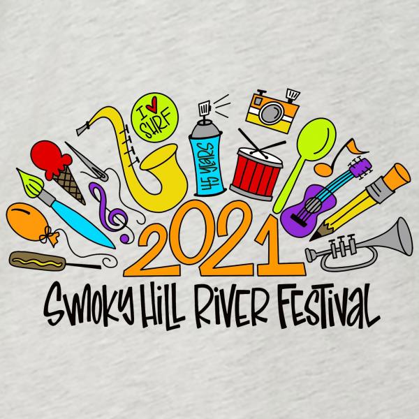 2021 Smoky Hill River Festival T-Shirt Design